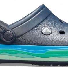 Saboți Adulti Unisex pe apă Crocs Crocband Wavy Band Clog, Albastru, 37.5 - 39.5, 41.5, 42.5, 46.5