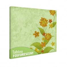 Tablou fosforescent Flori vintage