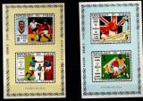 CIAD 1970 - Fotbal - WCup 1970 - 2 blocuri de lux!, Nestampilat