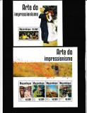 Mozambique 2014 - Pictura -  IMPRESIONISM - BL+KB - NESTAMPILATE