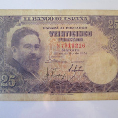 Spania 25 Pesetas 1954