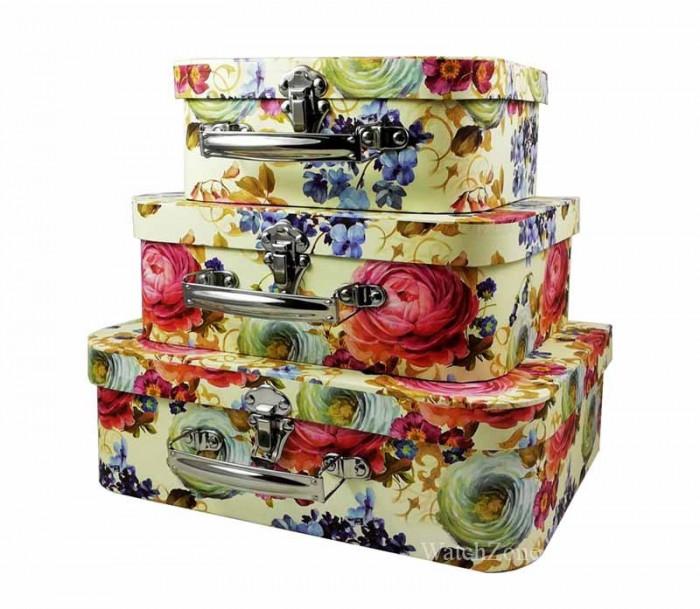 Casete Bijuterii cu Motive Florale Set 3 Bucati WZ369
