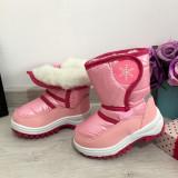Cumpara ieftin Cizme roz imblanite impermeabile de zapada pt fete copii 23 25 26 27