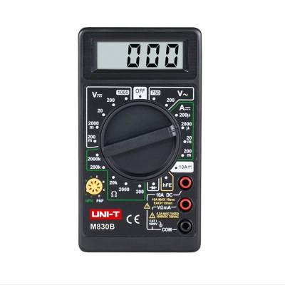 Multimetru digital UNI-T DT830B, testare diode, negru foto