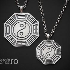 Pandantiv Medalion Colier Yin Yang Argint - cod PND925