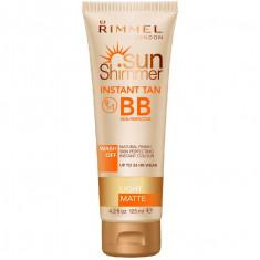 Lotiune Autobronzanta Rimmel Sun Shimmer Instant Tan BB 9 In 1 Light Matte 125 ml