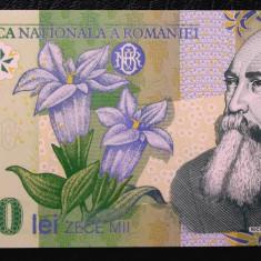 ROMANIA 10000 10.000 LEI 2000 GHIZARI POLIMER UNC NECIRCULATA **