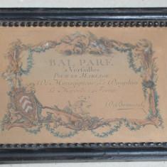 Bal Pare a Versailles invitatie 1745
