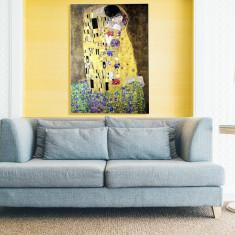 Reproducerea picturii Gustav Klimt Sărutul textură pictată manual 130x180cm