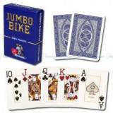 Carti de poker Modiano BIKE TROPHY 2 Jumbo Index albastru 100% p
