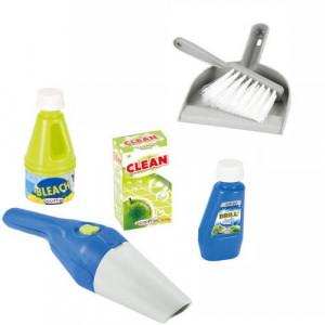 Set Ecoiffier accesorii pentru curatenie cu aspirator matura si faras