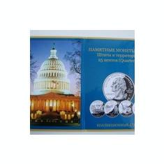 Mapa    de  prezentare   pentru  monede   SUA  25  centi ( state si teritorii )