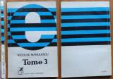 Nicolae Manolescu , Teme 3 , editia 1 cu autograf catre Ion Coteanu , 1978
