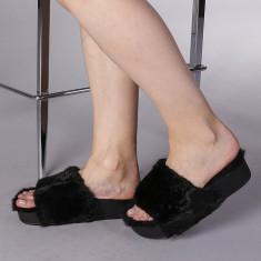 Papuci dama Julia negri