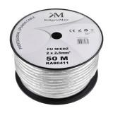 Cablu difuzor OFC 2x2.50mm+ecran kruger&matz 50 m