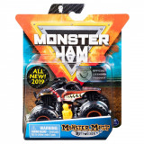 Masinuta Monster Jam, Scara 1:64, Monster Mutt Rottweiler cu figurina, Portocaliu