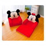Fotoliu plus  extensibil pentru copii Mickey Mouse/Minnie Mouse