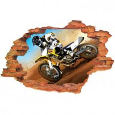 "Sticker ""Wall Crack"" Moto 30 - 120 x 80 cm"