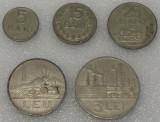 LOT SET complet 5 monede RPR 5 15 25 bani 1960 1963 1 leu si 3 lei 1963