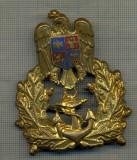 Y 1569 INSIGNA-MILITARA-EMBLEMA COIFURA- MARINA -PENTRU COLECTIONARI