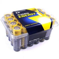 Baterii alcaline Varta Energy , AA , R6 , 24 Baterii / Set