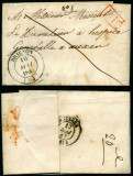 France 1842 Rare Stampless Cover + Content Brienon Auxerre D.1071
