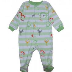 Salopeta / Pijama bebe cu dungi si maimute Z57