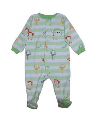 Salopeta / Pijama bebe cu dungi si maimute Z57 foto