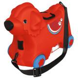 Cumpara ieftin Masinuta de impins tip valiza Big Bobby Trolley Red