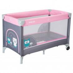 Patut cu 1 nivel HR-8052-176 Owls Pink Baby Mix