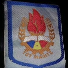 Emblema Pionieri(albastra)-Tot inainte!+centura uniforma pionieri,Tp.GRATUIT