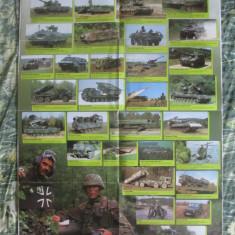 Rar! Poster 830 x 590 mm arme si vehicule Bundeswehr/Armata germană