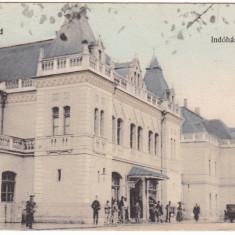 #Z.2290- Romania, Nagyvarad, Oradea c.p. circulata 1912: Gara, animat, Fotografie