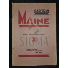 COTRUS A. (ARON) - MAINE (Poezii), 1928, Cluj