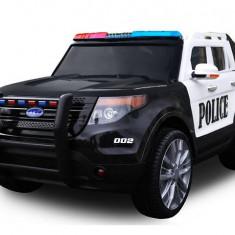 Masinuta electrica SUV de Politie cu sirena, girofar si megafon, negru