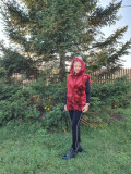 Cumpara ieftin Vesta blana sintetica Rosu