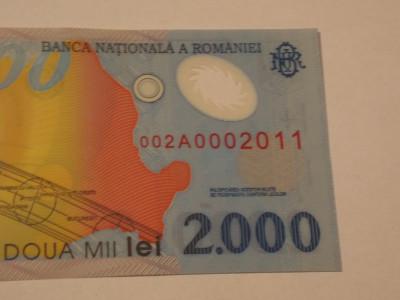 2000 Lei Eclipsa. Serie 2011. Rara. UNC. foto