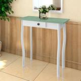 VidaXL Masă consolă, alb și verde cenușiu, MDF