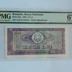 10 lei 1966 PMG MS67