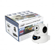 Resigilat : Camera cu IP PNI IP751W 720P P2P, PTZ, slot card, wireless, email, FT