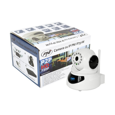 Resigilat : Camera cu IP PNI IP751W 720P P2P, PTZ, slot card, wireless, email, FT foto
