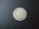 M. 1 leu 1873 L intrerupt, argint