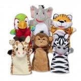 Set 6 Papusi De Mana Animale Safari - Melissa & Doug