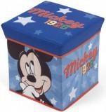 Cumpara ieftin Taburet pentru depozitare jucarii Mickey Mouse