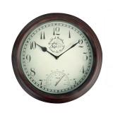Ceas de perete cu termometru pentru exterior, World Maro, Ø30,5 cm