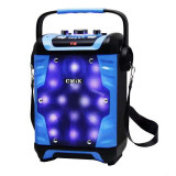 Boxa audio activa cu radio CMiK MK-B23, LED, functie karaoke
