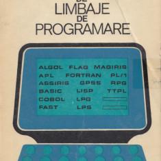 Jitaru, M. s. a. - INDRUMATOR DE LIMBAJE DE PROGRAMARE, ed. Tehnica, Bucuresti