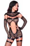 Cumpara ieftin LIV32-1 Costum sexy din dantela cu imprimeu floral - Livia Corsetti