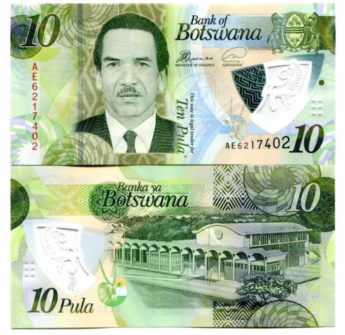 Botswana 2018 - 10 pula UNC, polimer