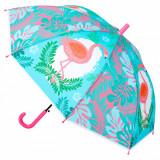 Umbrela automata pentru copii, model flamingo, multicolor, 48,5 cm